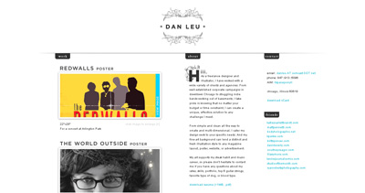 Dan Leu Website Screenshot