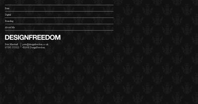 Design Freedom Website Screenshot