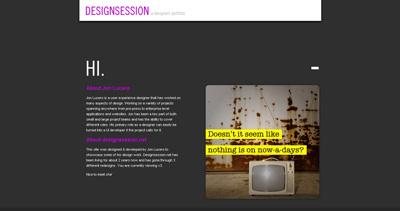 Design Session Website Screenshot