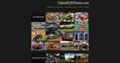 Dave Adams Photography Website Screenshot