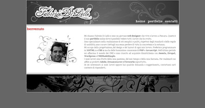 Fabrizio Di Lello Website Screenshot