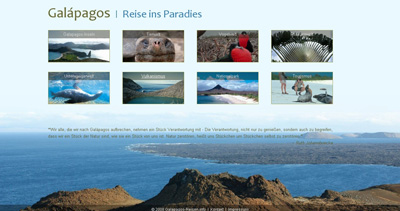 Galapagos Website Screenshot