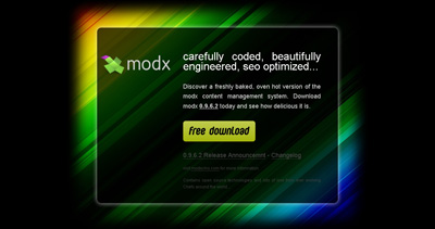 get modx Website Screenshot