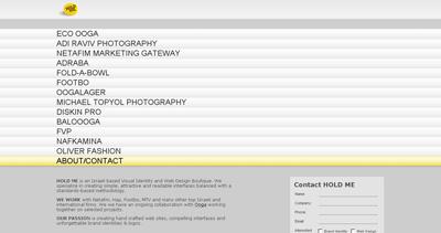 HOLD ME graphics Website Screenshot