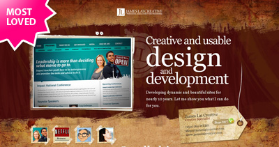 James Lai Creative Website Screenshot