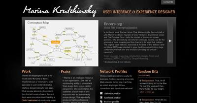 Marina Krutchinsky Website Screenshot