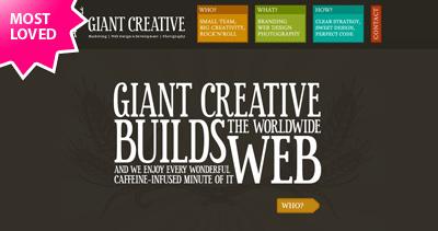 GIANT Creative Website Screenshot
