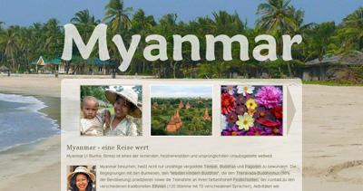 Myanmar Reisen Website Screenshot