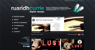 Ruaridh Currie Website Screenshot