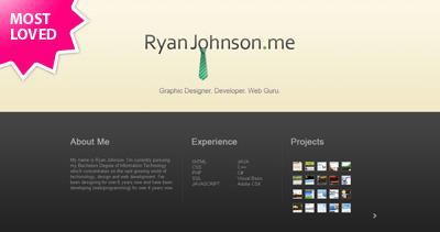 Ryan Johnson Website Screenshot