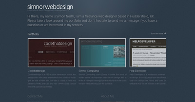 Simnor Web Design Website Screenshot