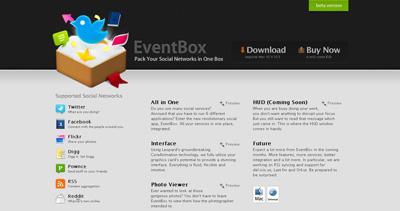 EventBox Website Screenshot