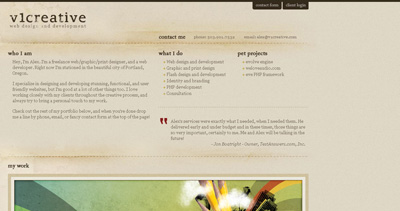 v1Creative Website Screenshot