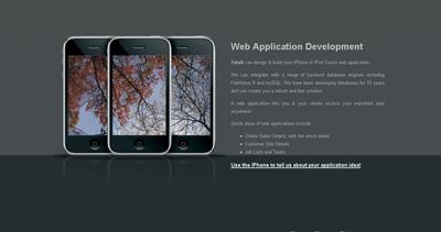 Web & iPhone Application Development Website Screenshot