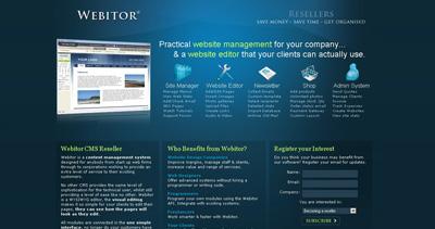 Webitor Website Screenshot