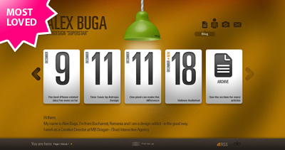 Alex Buga Website Screenshot