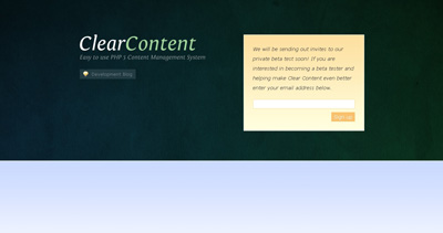 Clear Content Website Screenshot
