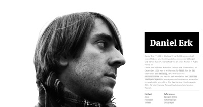 Daniel Erk Website Screenshot