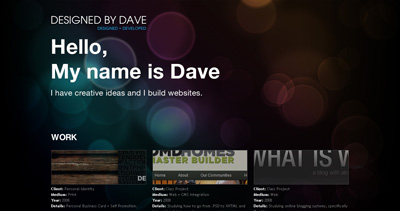 Designed By Dave Website Screenshot