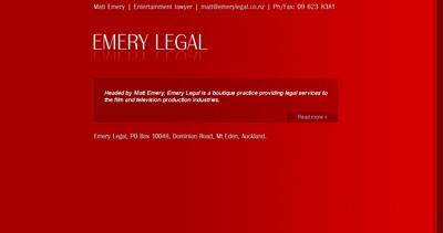 Matt Emery Website Screenshot