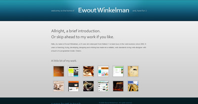 Ewout Winkelman Website Screenshot