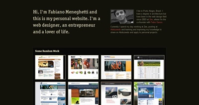 Fabiano Meneghetti Website Screenshot