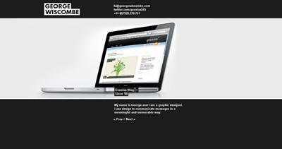 George Wiscombe Website Screenshot