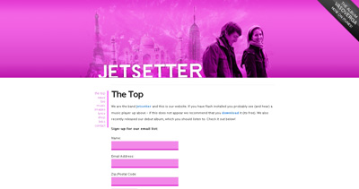 Jetsetter Website Screenshot