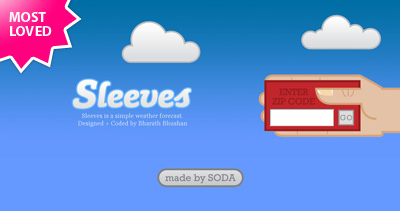 Sleeves Website Screenshot