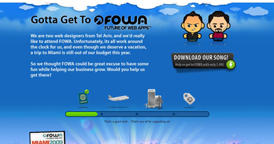 Gotta Get To FOWA Website Screenshot