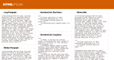HTML-Ipsum Website Screenshot
