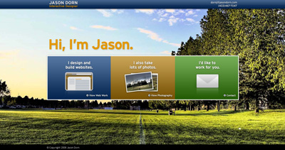 Jason Dorn Website Screenshot