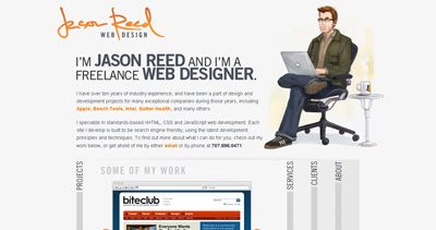 Jason Reed Web Design Website Screenshot