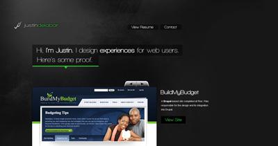 Justin Delabar Website Screenshot