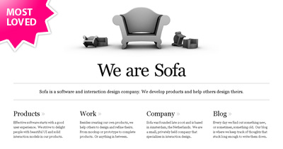 Sofa Website Screenshot