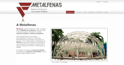Metalfenas Website Screenshot