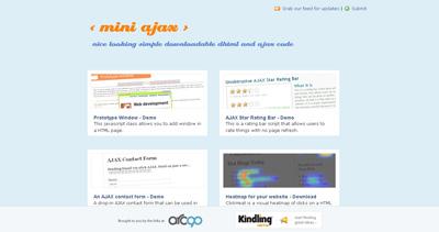MiniAjax Website Screenshot