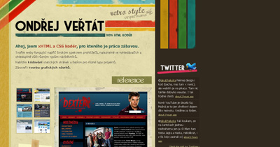 Ondřej Veřtát Website Screenshot