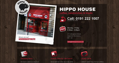 Hippo House Website Screenshot