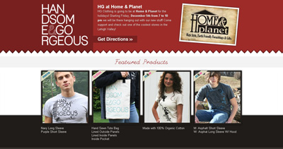 Handsome and Gorgeous Clothing Website Screenshot