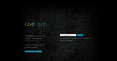 Uber Loops Website Screenshot