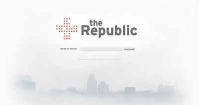 The Republic Website Screenshot