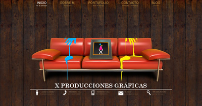 X Producciones Graficas Website Screenshot