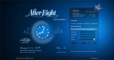 After Eight Website Screenshot