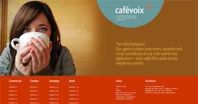 Cafevoix Website Screenshot