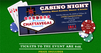 Ladies in Aiding Casino Night Website Screenshot