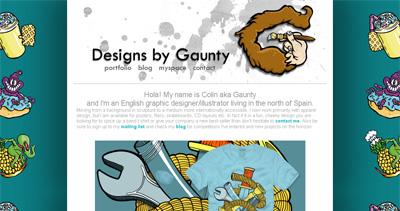 Colin Gauntlett Website Screenshot
