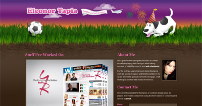 Eleonor Tapia Website Screenshot