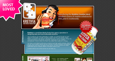 Kretivia Website Screenshot