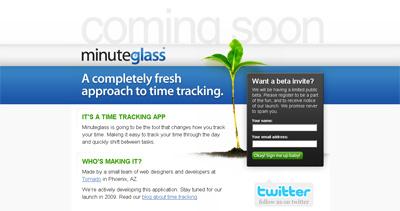 Minuteglass Website Screenshot